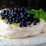 blueberry limoncello pavlova