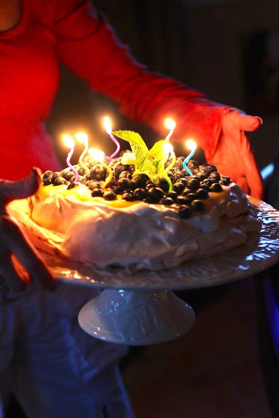 Birthday Pavlova with Limoncello
