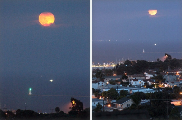 super moon over san pedro