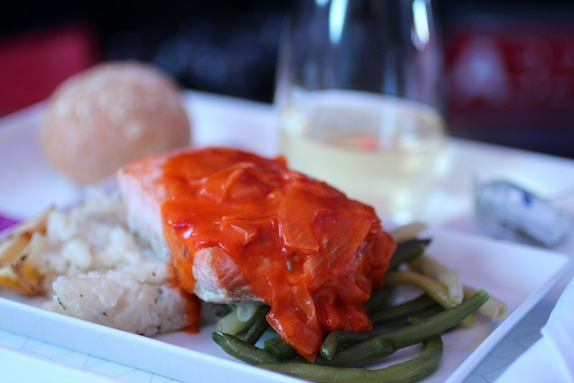 virgin america Salmon with Lemon Risotto