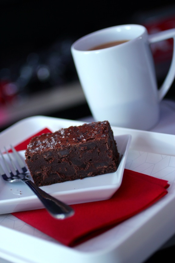 virgin air salted chocolate brownie