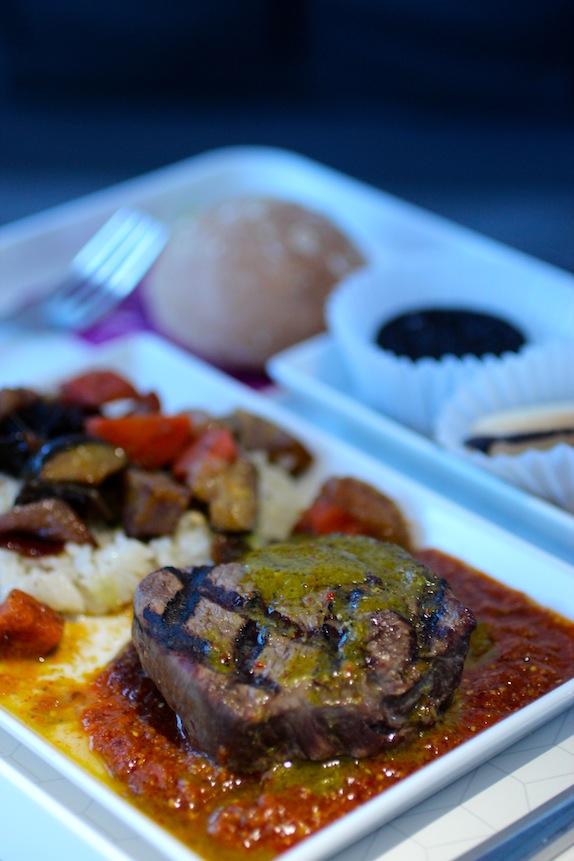 virgin america cuban steak chimichurri