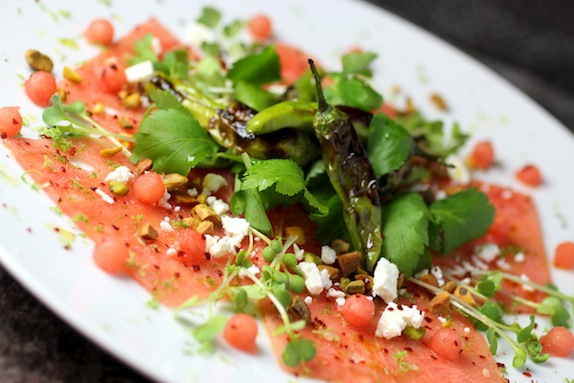 watermelon carpaccio
