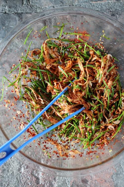stuffed cucumber kimchi recipe, oi sobaegi