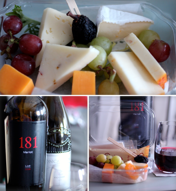 virgin america wine and cheese