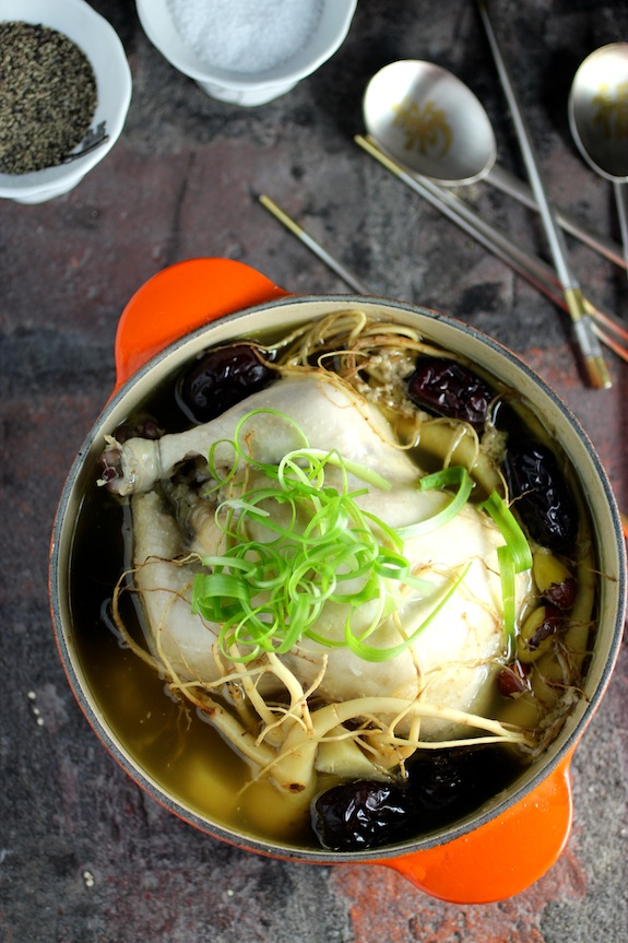 Samgyetang 삼계탕 - Korean Stuffed Chicken Soup with Ginseng