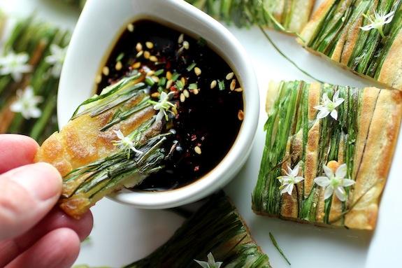 Buchu Jeon {chive blossom pancake}