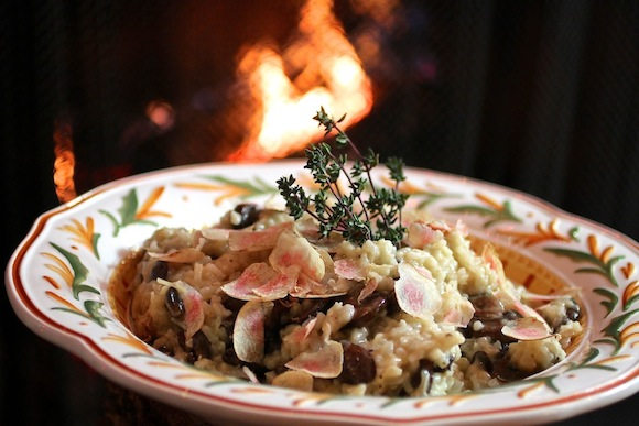 mushroom-thyme risotto with italian truffles