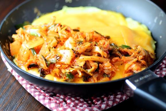 Kimchi & Cheddar Omelette