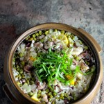 Paella Rice with Baby Octopus & Meyer Lemon