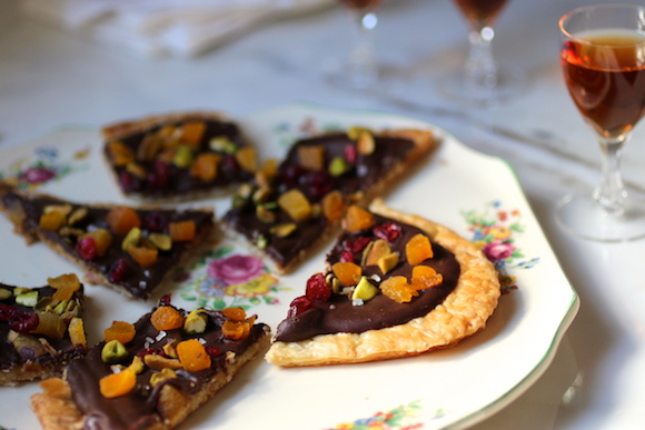 Puff au Chocolat ~ dried fruit and nuts