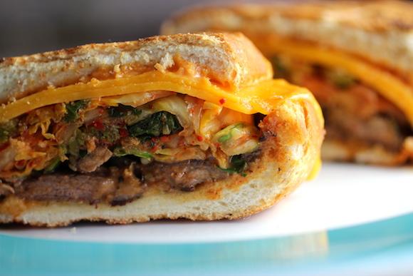 bulgogi panino ~ kimchi, cheddar, ssamjang mayo