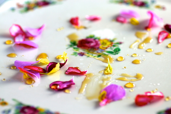 Hwa Jeon with Honey and Flower Petals