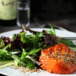 Korean Grilled Salmon, Gochujang-Soju Marinade