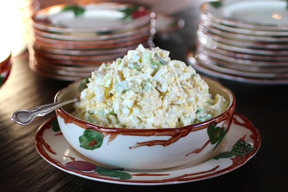 Mom's Potato Salad & Franciscan Earthenware