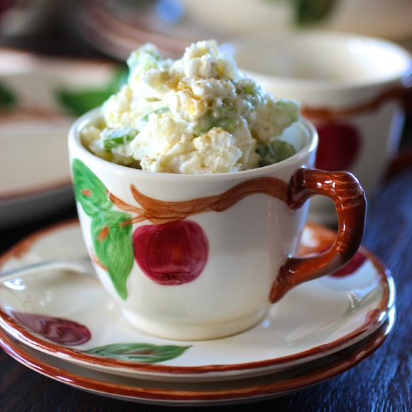 Mom's Vintage Potato Salad & Franciscan Earthenware