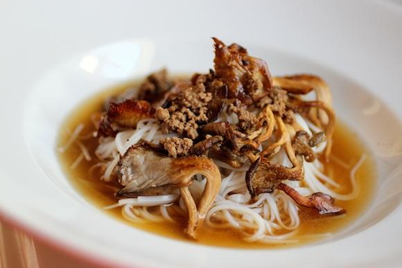 Roasted Mushroom Noodle Soup