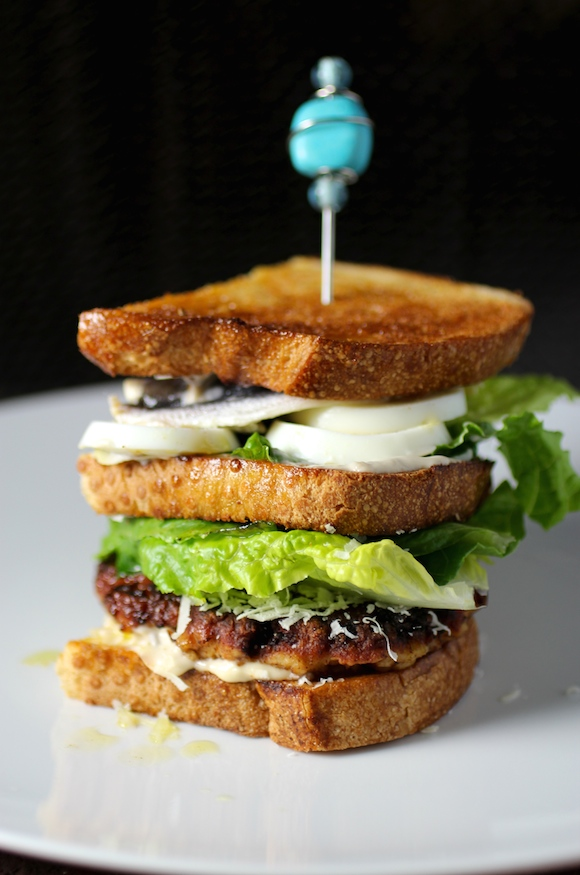 caesar cardini chicken club sandwich