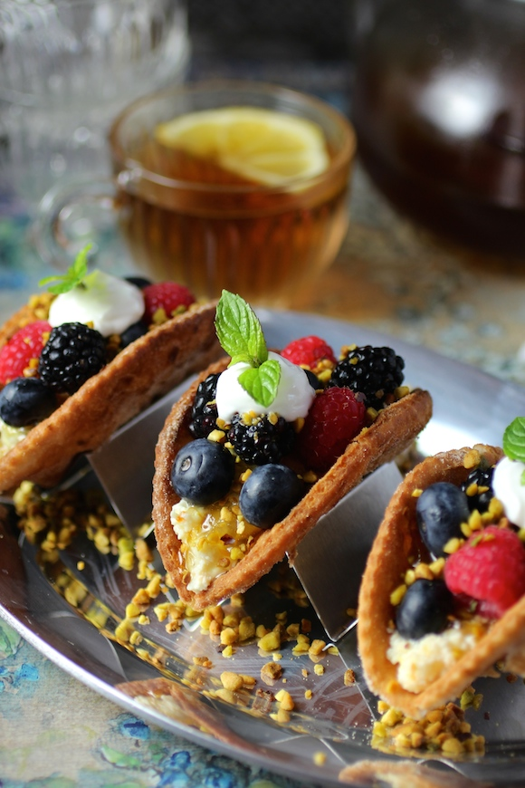Mini Fruit Tacos Showcase Fresh Berries