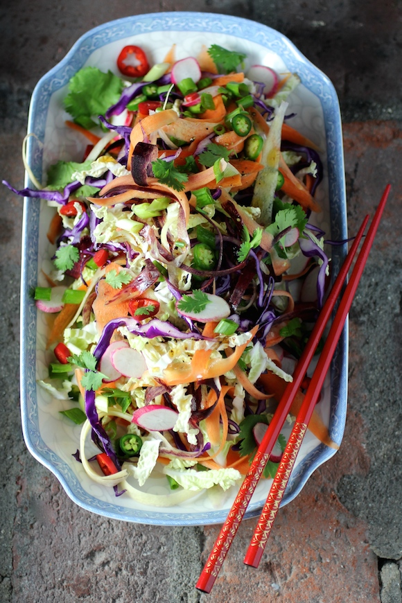 Spicy Rainbow Slaw