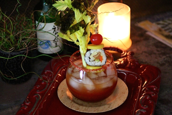 Korean Soju Kimbap Bloody Mary