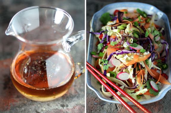 Sesame Oil & Rice Wine Vinegar Dressing
