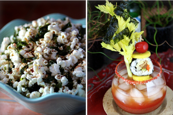 Korean Popcorn and Korean Bloody Mary