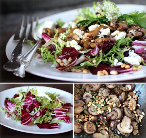 Radicchio and Sautéed Mushroom Salad