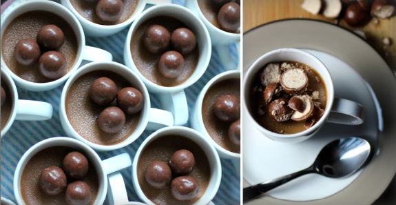 Malted and Salted: Milk Chocolate Pots de Creme