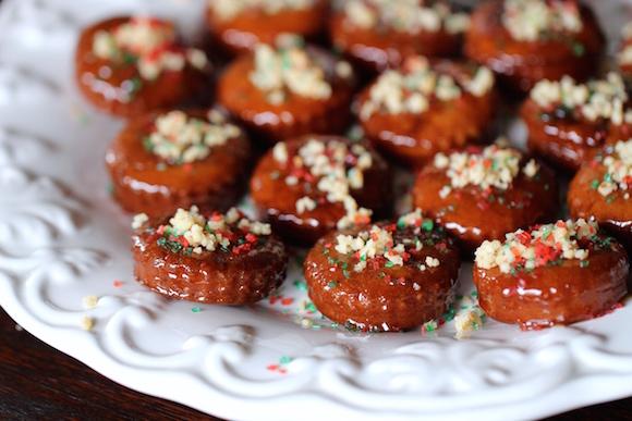 Fried Cookies with Ginger, Honey, Pine Nuts (Korean Yakgwa)