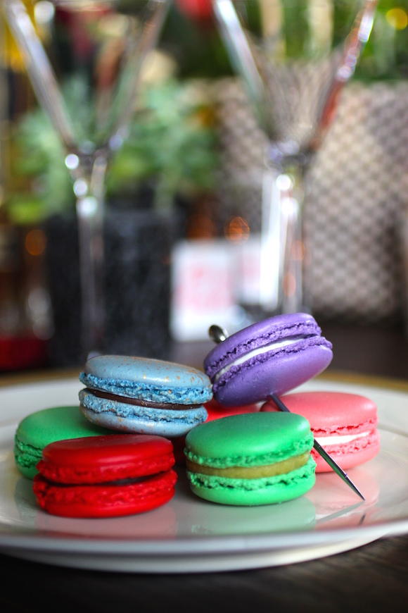 My Exquisite French Martini, Macaron Garnish