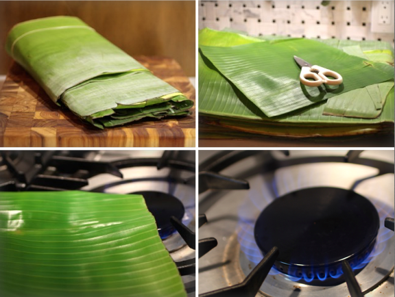 How to prep BANANA LEAVES
