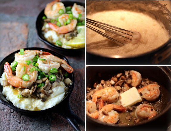 Shrimp and Grits in Mini Cast Iron Skillets