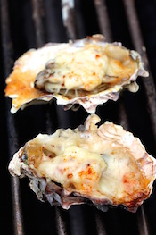 Grilled Oysters - Parmesan, Mayo, Smoked Paprika