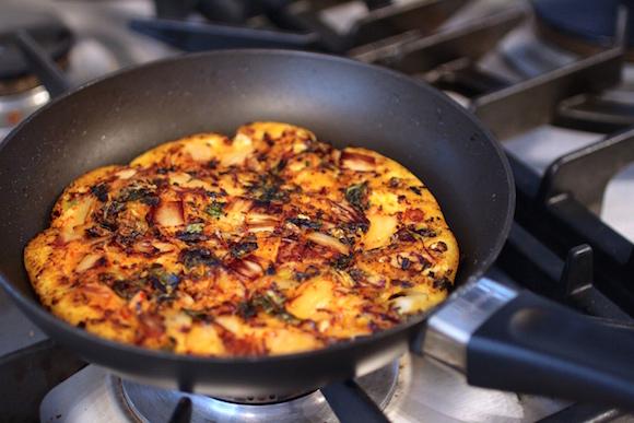 How to Make Kimchi Mung Bean Pancakes