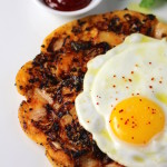 Savory Korean Breakfast Pancake {Breakfast Bindaetteok}