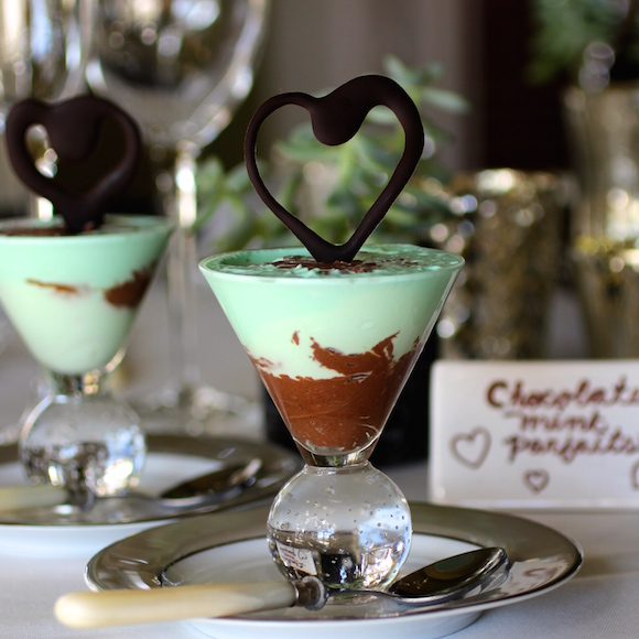 Chocolate Mint Parfaits with 5 Ingredients