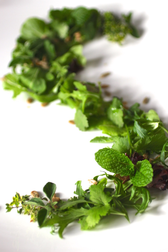 Foraged Garden Herb Salad