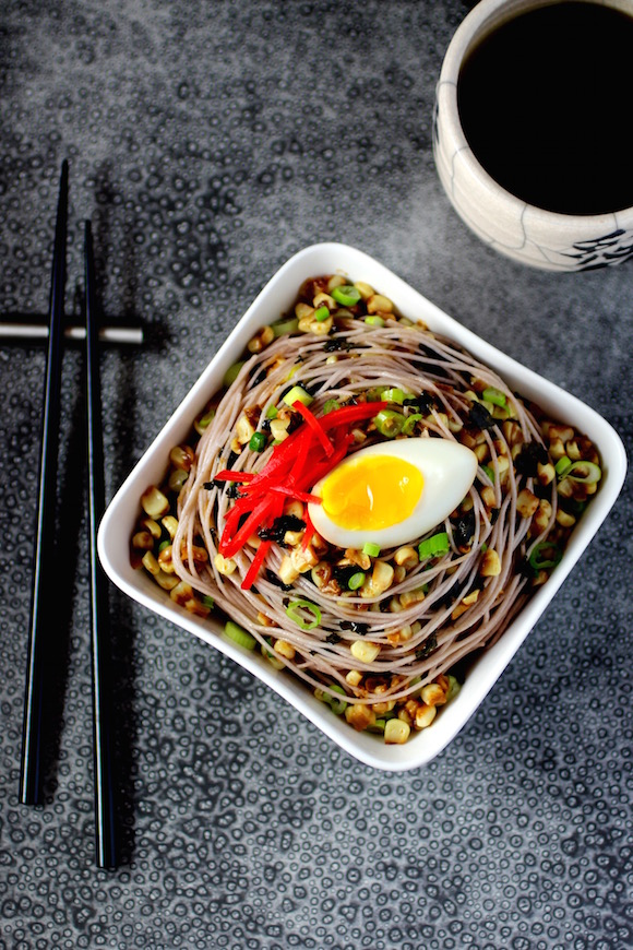 Rice Noodles with Miso Butter and Ramen-Style Toppings