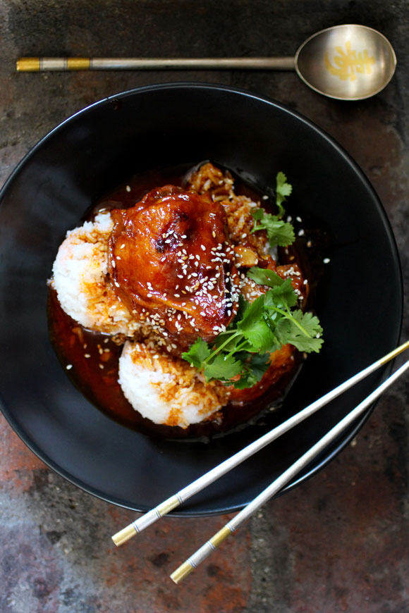 Korean-Filipino Gochujang Chicken Adobo
