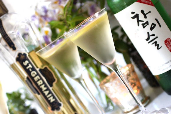 Sublime Franco-Korean Elderflower Soju Martini