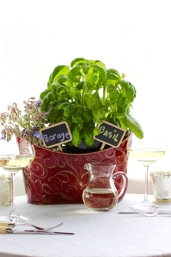 Borage and Basil Centerpiece