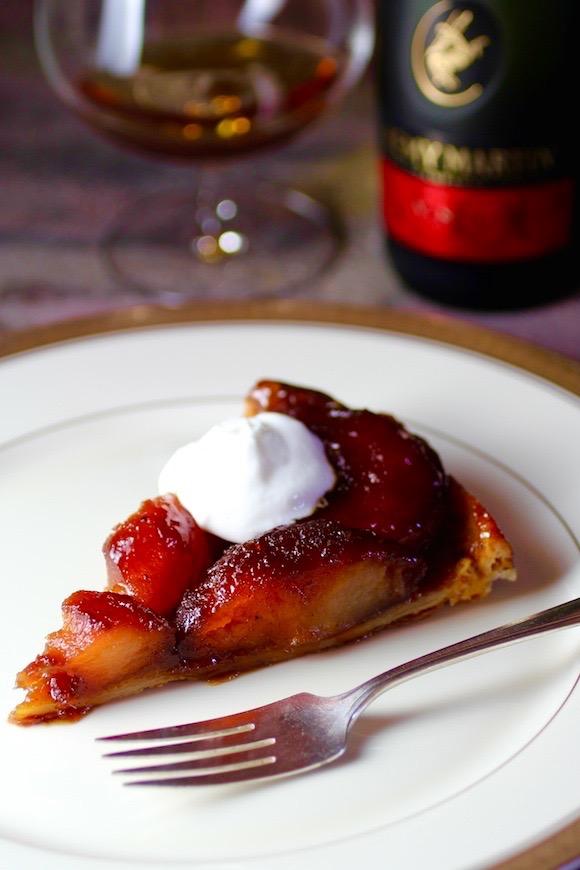 Classic Apple Tarte Tatin with Cognac and Crème Fraîche