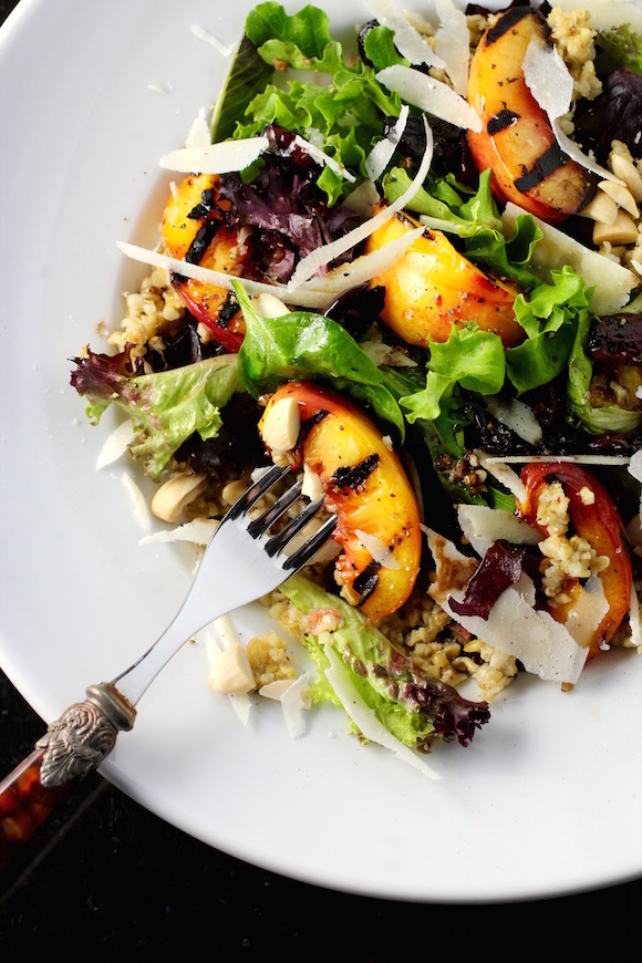 Food 1 2016 6 14 Nectarine Parmesan Salad >> Grilled Nectarine Salad With Freekeh Taste With The Eyes