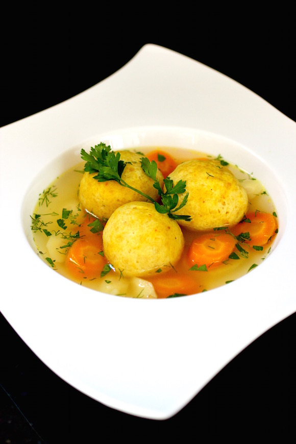 Chicken Soup with Exotic Saffron Matzoh Balls