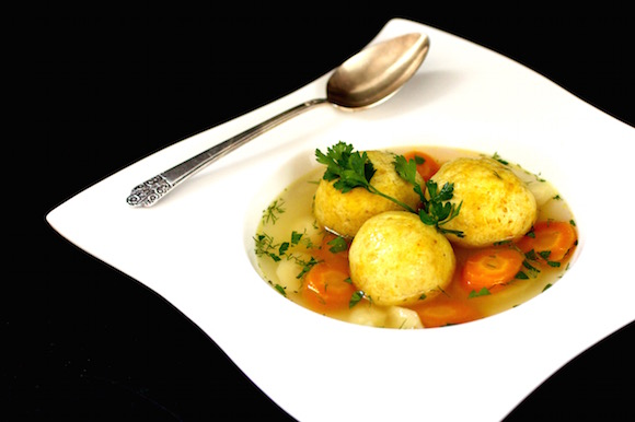Chicken Soup with Exotic Saffron Matzoh Balls - Taste With The Eyes