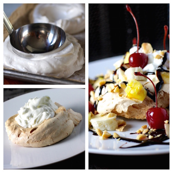 How to Make Pavlova, Banana Split Style