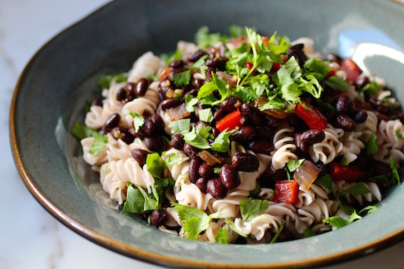 "Gallo Pinto ""Rice & Beans"" with a Fusilli Twist"