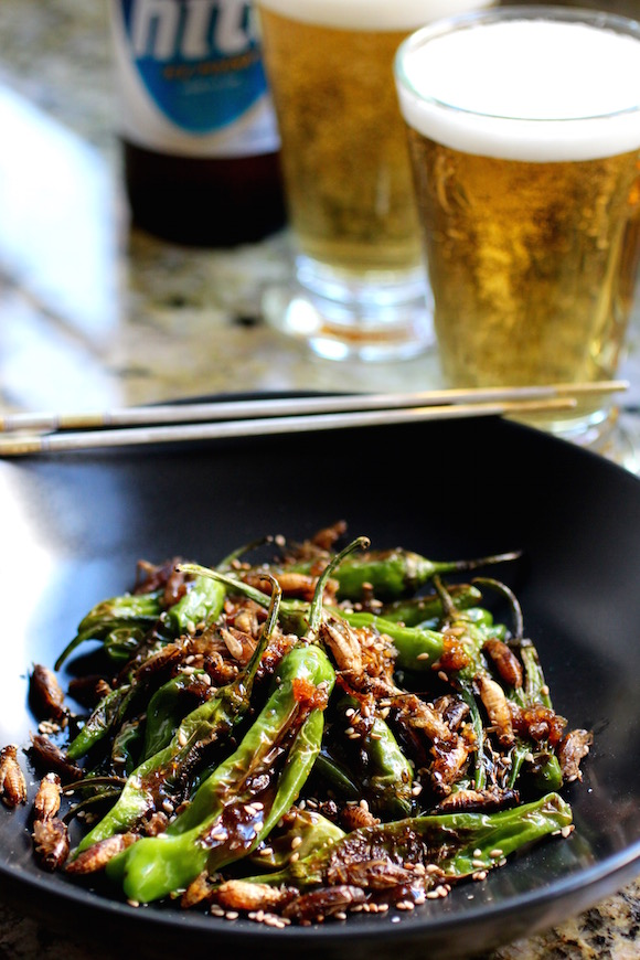 Edible Insects: Crickets and Kkwarigochu in a Sweet, Sticky, Garlicky Sauce