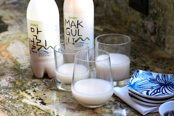 makkoli (Korean rice wine)